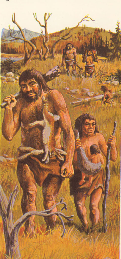 early man fashions weapons and tools