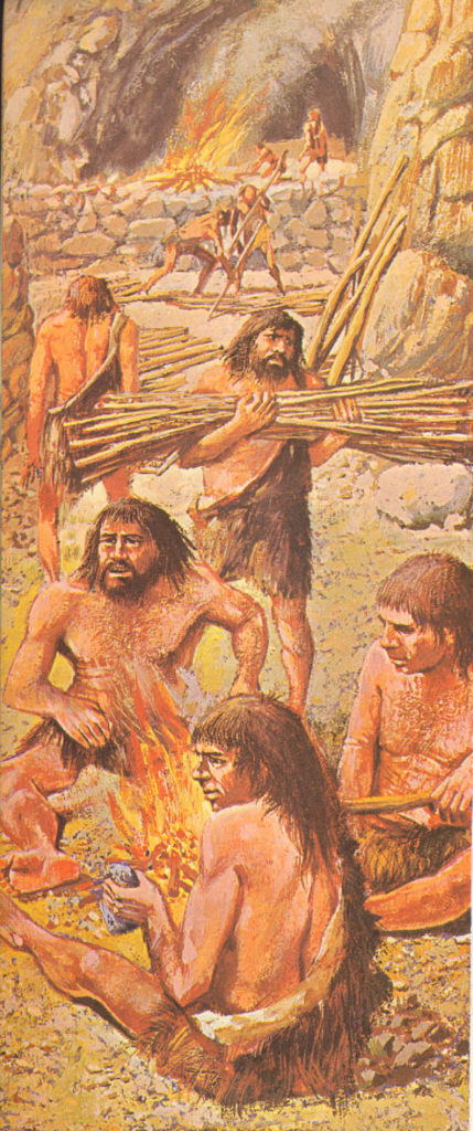 neanderthals live in cave shelters