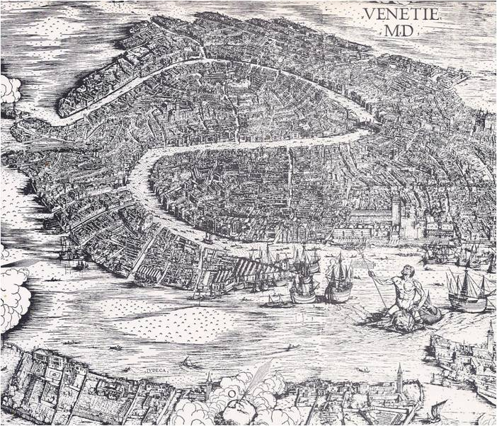 Venice City In The Sea World History Volume - Map of venice 1500