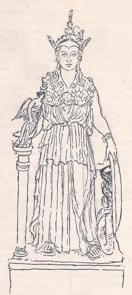 Parthenon - statue of athena