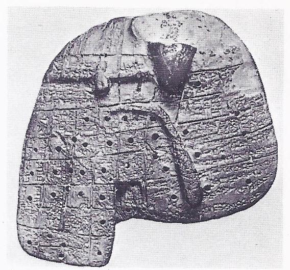 Babylonian model diving liver.