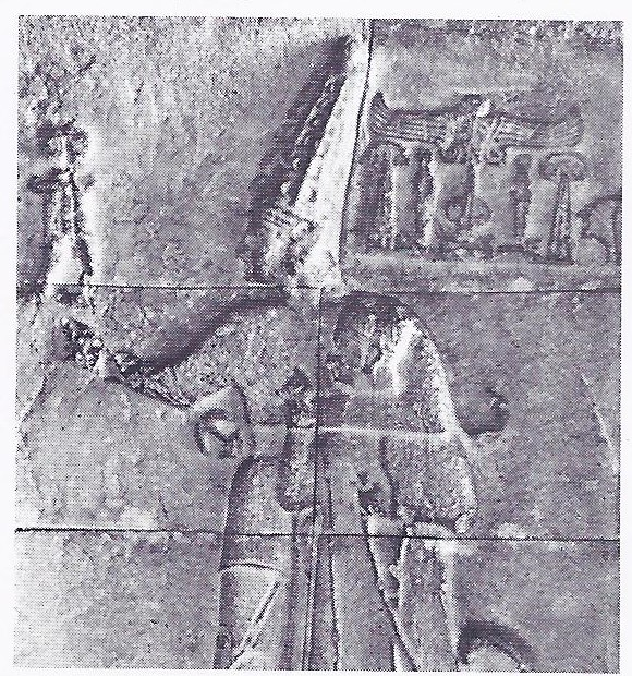 Hittite king protected by a god -Hittites