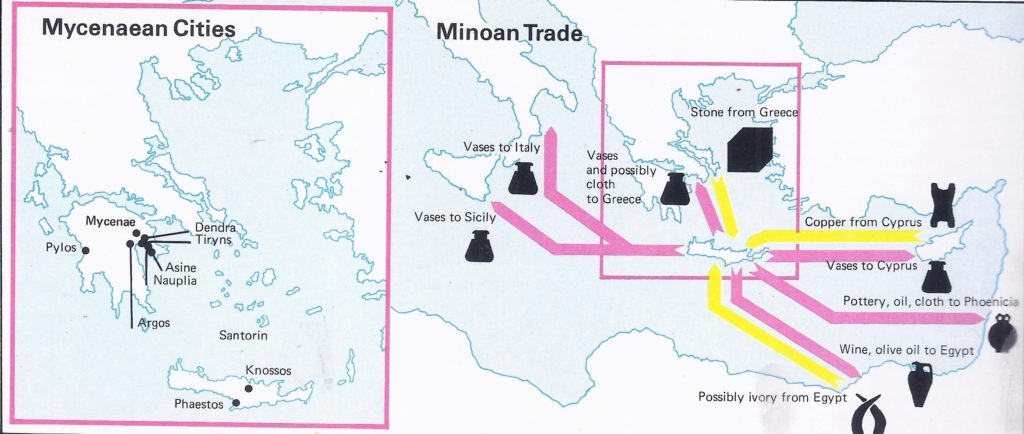 The Mycenaean Greeks may have conquered Crete after the eruption in the fifteenth century B.C.