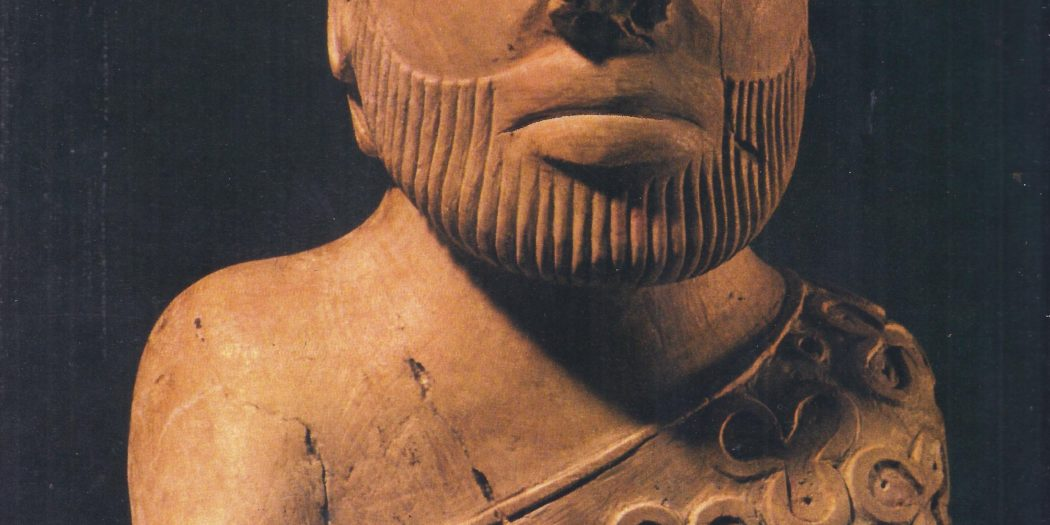 Priest-king, or deity, from Mohenjo-daro, in the Indus Valley. The people of this pre-Aryan city were not the primitive barbarians of Aryan legend.
